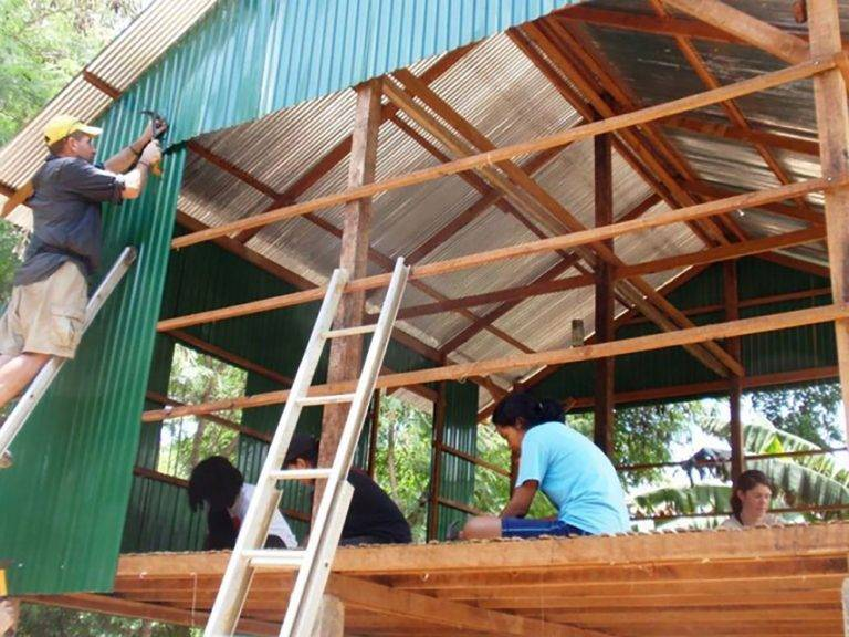Helping to break the poverty cycle in Cambodia by building houses